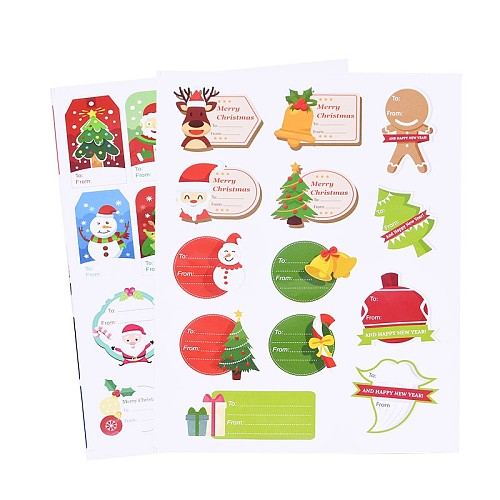 Merry Christmas Sticker Labels Santa Claus Snowman Handmade Sealing Stickers Baking DIY Gift Stickers Christmas Party Decoration