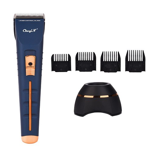 Electric Hair Clipper 3 Speeds Adjustable Blade Beard Trimmer Cordless Barber Haircut Rechargeable Hair Cut 4 Pcs Limit Combs