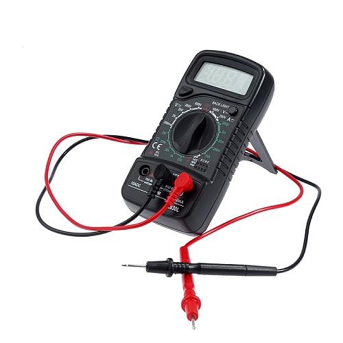 Handheld LCD Digital Multimeter 1999 XL830L AC/DC Voltage Amp Current Resistance Tester Blue Backlight Meter