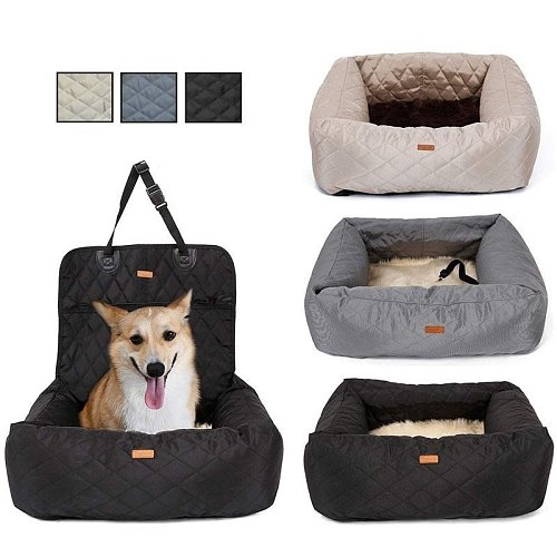 2 In 1 Pet Dog Carrier Folding Car Seat Pad Safe Carry House Puppy Bag Car Travel Accessories Waterproof Dog Seat Bag Basket