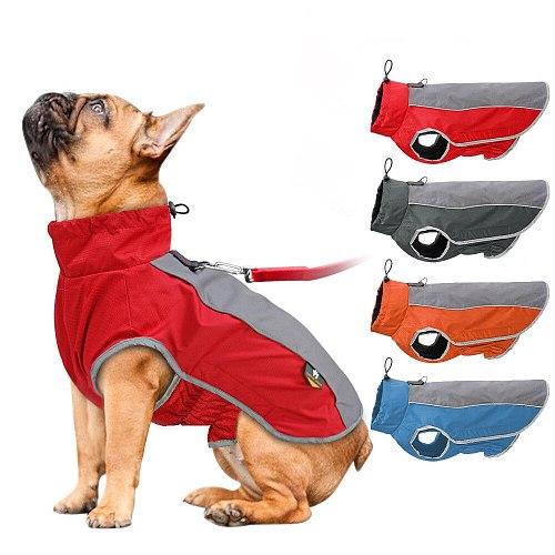 Large Dogs Cloth Autumn Winter Outdoor Sport Vest Pet Dog Warm Waterproof Clothing Warm Big Dog Jackets Pet Supplies