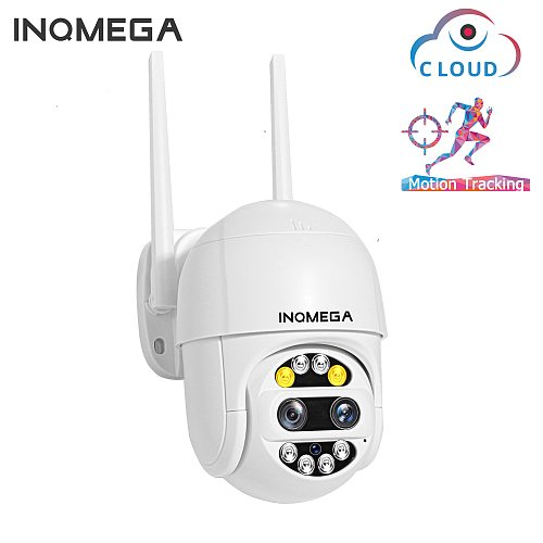 1080P Wifi Camera Dual-Lens PTZ Speed Dome Camera Outdoor Auto Tracking Cloud CCTV Home Security IP Camera 2MP 4X Zoom