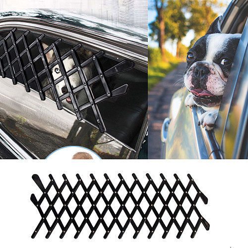 Ventilation Safe Guard Mesh Vent Fences For Dogs Pet Dog Car Window Protective Fence Pets Outdoor Travel Supplies