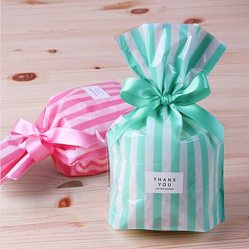 10pcs Candy Color Stripe Wax Coating ,Packaging Bag,Biscuit bags,Candy Gift Soap Packaging Wedding Party Decoration Supplies
