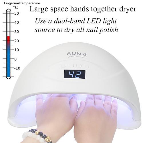 84/54/36W UV lamp LED nail lamp nail dryer for all gels enamel solar infrared light detection 15/30/60 smart timer for manicure