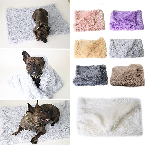 Pet Dog Mats Sleeping House Plush Blankets Soft Covers for Large Dogs Cats Pet Dog Cat Bed Long