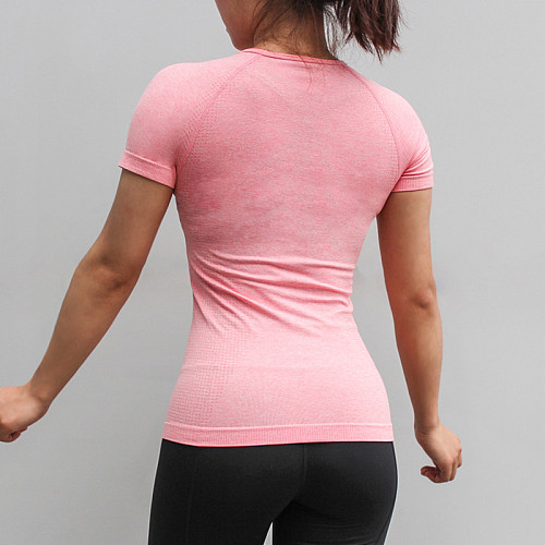 Top Fitness Women Seamless Sport Shirt Sports Wear For Women Gym Gym Running Gym Female Top Short Sleeve Yoga Workout Tops