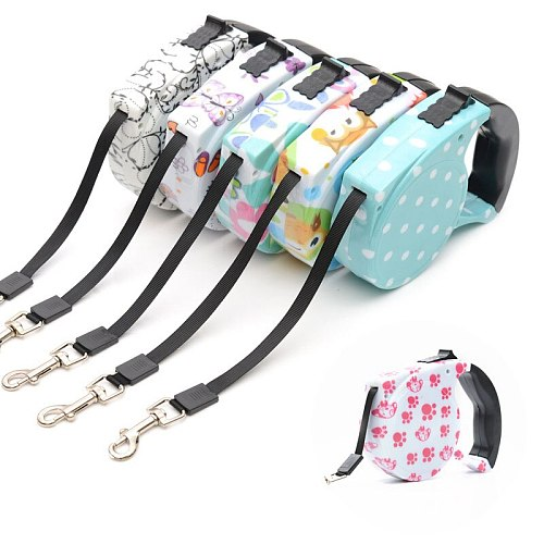 Fashion style Dog Collar Leash Automatic Retractable Leash For Dogs Patrol Rope Walking Dogs Pet supplies Rope Walking Dogs
