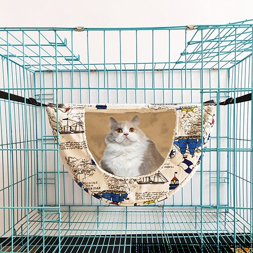 Pet Cat Hamster Hammock Hanging Cage Pet Beds For Small Ferrets Guinea Pigs Squirrels Small Animals Nest Sleeping Bed House