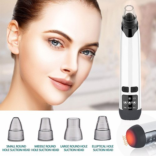 Electric Blackhead Remover Face Pore Cleaner Acne Pimple Removal Vacuum Suction Facial Diamond Dermabrasion Machine Skin Care
