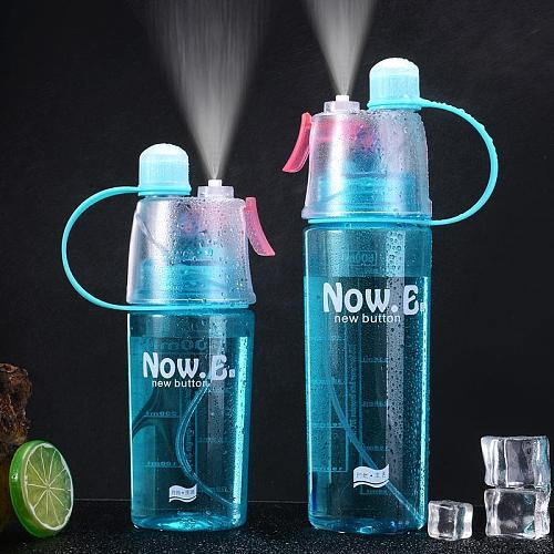 600ML Explosion Sport Water Bottles Outdoor Travel Portable Leakproof Protein Shaker Camping Hiking Drink Spray Water Bottle