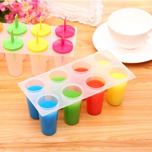 8-In-1 Ice Cream Mold Frozen Popsicle Mould Kitchen Tool Popsicle Sticks And Holders Ice Pop Mold Block Maker Set Ice Form