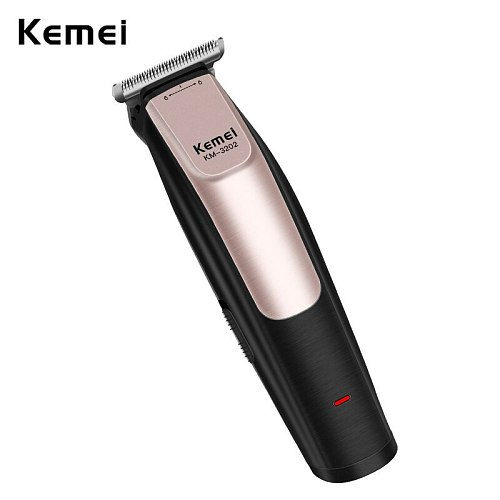100-240V Kemei Professional Hair Clipper Rechargeable Hair Trimmer Clipper Haircut Barber Styling Cutting Machine USB Charging