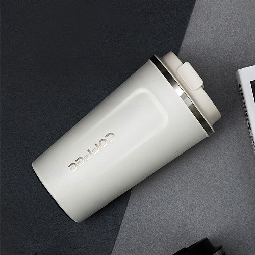 304 Double Layer Mug Coffee Cup Vacuum Structure Car Stainless Steel Cup Outdoor Cup Vacuum Cup Travel Mug Thermos Gift Cup
