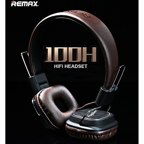 Remax High Compatibility HiFi sound Headphone Stereo Music Earphone with HD Mic Headset Headband Type Smart Noise Reduction