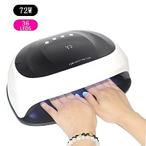 new listing 72W Nail Dryer UV Nail Lamp Gel Polish Curing Lamp with Bottom 30s/60s Timer LCD Display Lamp for Nail Dryer
