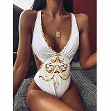 High Waist Women Swimwear 2020 One Piece Swimsuit Female V-Neck Bodysuit Leopard Bathing Suit Print Bather Beachwear High Cut