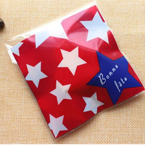 100pcs 10cm Party Birthday Decor Gift Packaging Bags Self Adhesive Gift Bag Wedding Cookie Candy Cake Package