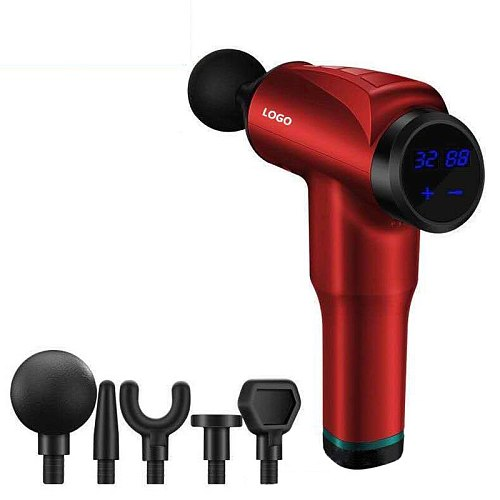 Muscle Massage Gun Sport Therapy Massager Body Relaxation Pain Relief Slimming Shaping Massager With Replacement 5 Heads XA93U