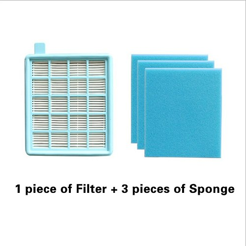 1 HEPA+3 sponge for Philips vacuum cleaner Hepa filter FC8470 FC8471 FC8475 FC8630 FC8645 FC9320 FC9322