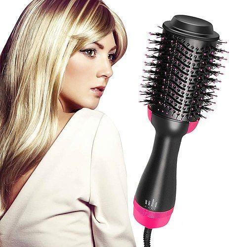 2in1 One Step Hair Dryer Volumizer Hot Air Brush Hair Straightener Curler Comb Curling Iron Brush Hair Styling Tool