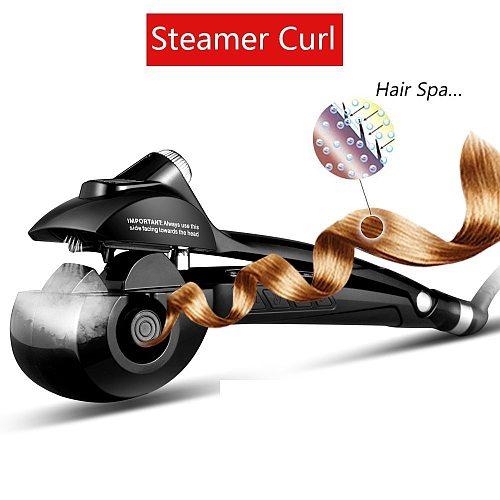 Professional Hair Curler Automatic Curling Iron Hair Wave Curls Hair Styler Ceramic Hair Crimper Iron Steam Curling Wand