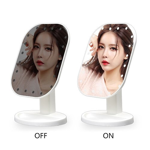 Touch LED mirror Makeup Mirror Screen Luxury Mirror With 3 luminosity LED Lights 180 Degree Adjustable Table Make Up Mirror