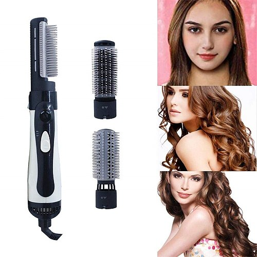 Hair Dryer Brush 3 in 1 Electric Hair Straightening Brush Curling Iron Curlers Professional Hot Air Blow Dryer Comb Hairdryer