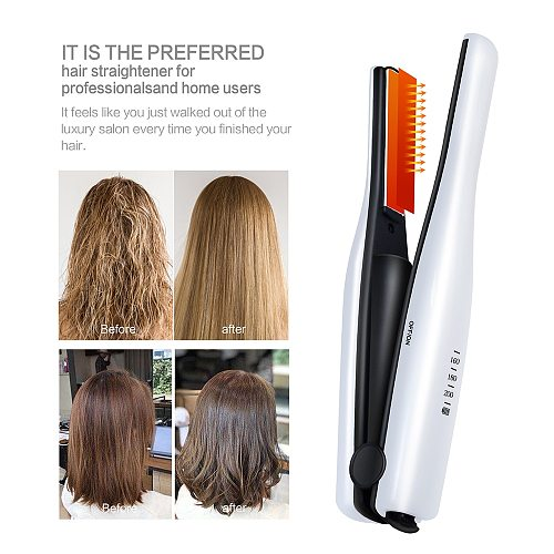 Mini Hair Straightener Professional USB Cordless Hair Flat Iron Straightening Hair Iron Styling Tools Hair Curling Iron Curler
