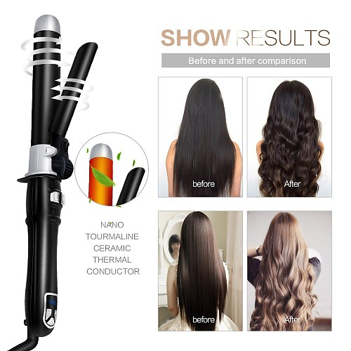 Ceramic Hair Curler Roller LCD Display Rotating Beach Wave Curling Iron Hair Waver Curling Wand Styling Tools Hair Crimper Iron