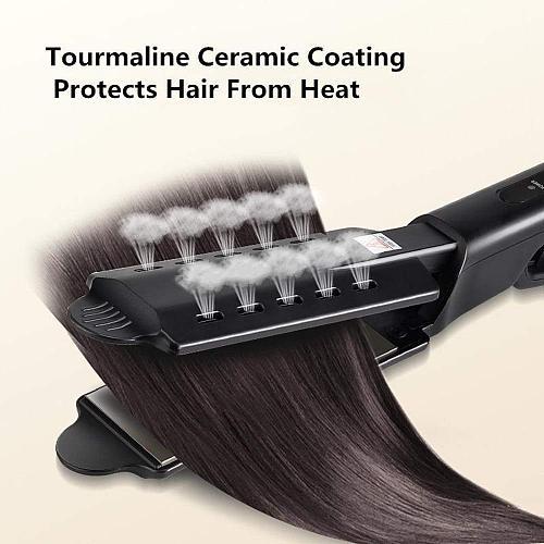 Ceramic Tourmaline Ionic Hair Iron Steam Flat Irons Straighteners Steam Hair Straightener Four-gear temperature adjustment