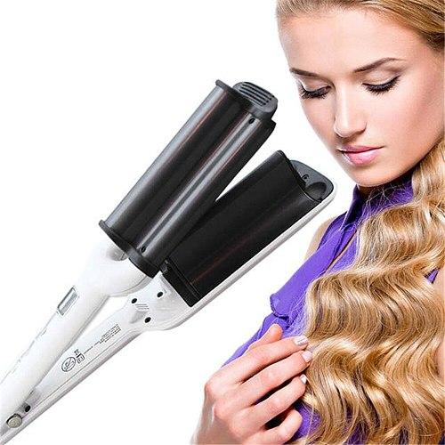 Professional Hair Curler Nano Titanium Curling Iron Hair Crimping Styling Tools Three-tube Curling Barr Hair Waver Curling Tongs