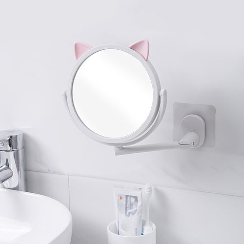 Makeup Mirror or 10X mirror Portable Round High Definition Single Side Cosmetic Mirror Easy to Use Simple Beauty Make Up Tool