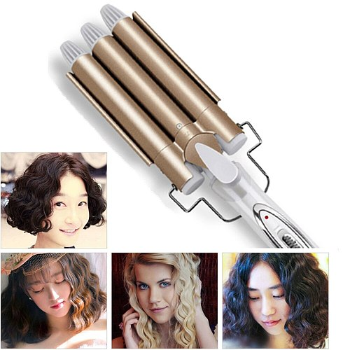 Triple Barrel Hair Curler Irons Big Wave Hair Waver Styling Tools Hair Styler Curling Wand Hair Crimping Iron Hair Curling Iron
