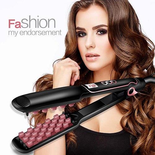Professional Hair Straightener Flat Iron Straightening Hair Volumizing Iron Hair Curler Corrugated Curling Irons Hair Crimper