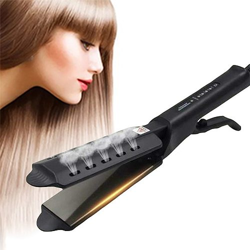 Hair Straightener Four-gear temperature Ceramic Tourmaline Ionic Hair Straight Styler Steam Hair Iron Straightening Flat Iron