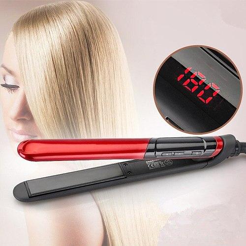2 in 1 Hair Straightener Curler Flat Iron Hair Straightening Styling Tools Hair Straight Styler Ceramic Hair Curler Curling Iron