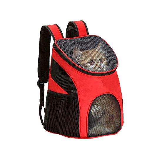 New Foldable Pet Bag Carrier Backpack Dog Cat Outdoor Travel Carrier Packbag Portable Zipper Mesh Pet Out Bag Cat Backpack
