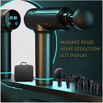 Massage gun with LCD display Deep muscle relief Fascia gun Sports therapy Massager Body relaxation electric Massager