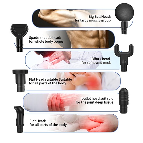 Therapy Massage Gun stouch screen Gears Muscle Massager Pain Sport Massage Machine Relax Body Slimming