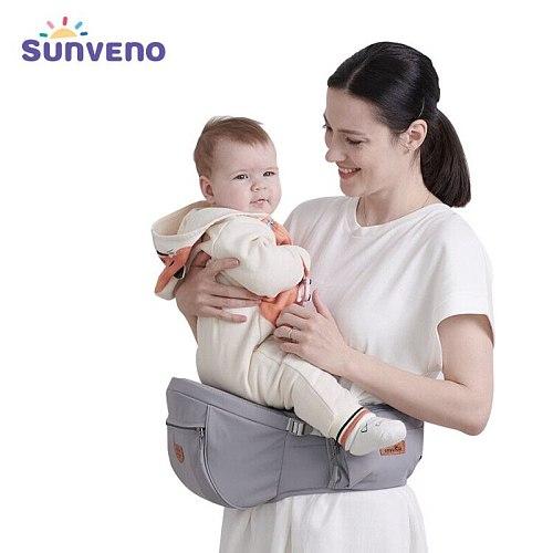 Baby Carrier, Ergonomic Hipseat Carrier Special Design Reduces Abdominal Waist Lightweight for Newborn Toddler 0-36M