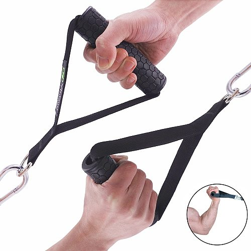 Anti-slip Gym Handle D-ring Pull Rope Cable Bar for Fitness Crossover Tricep Bar Pulling Workout Lifting Tube Resistance Bands