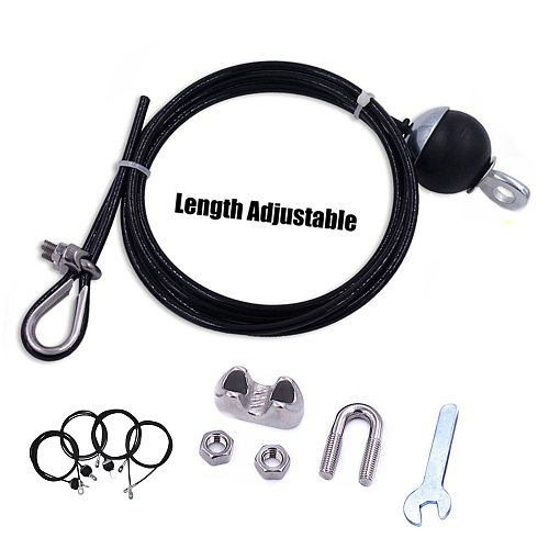 1.4M-3M Gym Cable Wire Rope Heavy Duty Steel Home Gym Cable Fitness Pulley Accessories Arm Biceps Strength Trainning Equipment