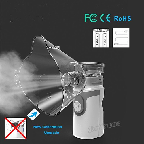 Mini Handheld portable Inhale Nebulizer Mesh atomizer silent inalador usb autoclean nebulizador Adult Automizer inhaler for kids