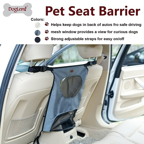 Pets Dog Car Carrier Seat Protective Accessaries Car Back Seat Covers Net Outgoing Barrier Screen Backseat Dog Safety for cars