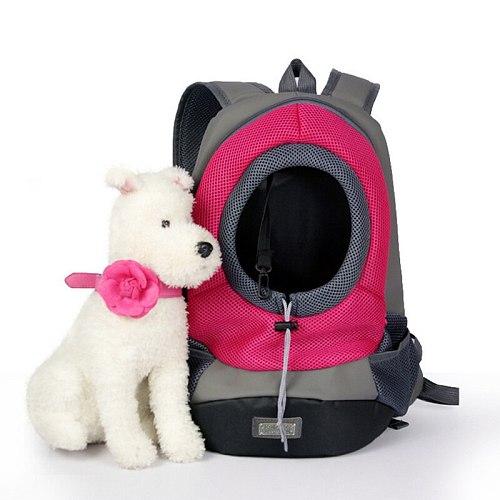 Portable Travel Pet Dog Front Bag Head Out Double Shoulder Pet Dog Carrier Backpack Outdoor Breathable Mesh Pet Backpack