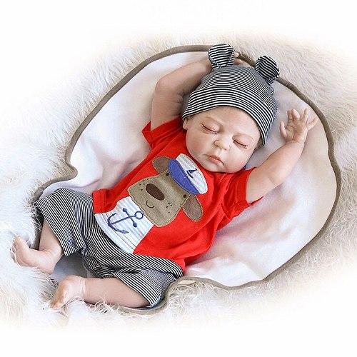 Silicone Reborn Baby Lifelike Toddler Baby Bonecas Kid Doll 45cm Bebes Reborn Brinquedos Reborn Toys For Kids Gift