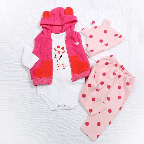 Doll Dress Fit For 47cm and 60cm Baby Doll Babies Reborn Doll Clothes high quality dress all cotton clothes