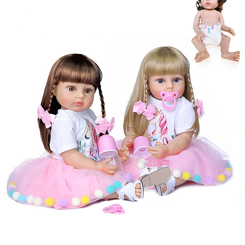 55CM reborn baby doll princess toddler girl real touch full body silicone Christmas Gift high quality doll collectibles