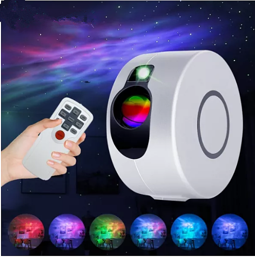 Star Projector Light Colorful Nebula Cloud Laser Night Light Dynamic Adjustable Star Night Light for Bedroom Games Room Party